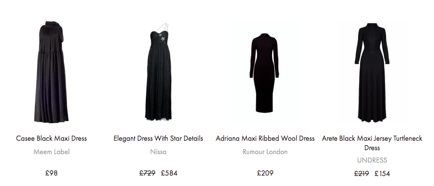 Women's Black Maxi Dresses By Independent Designers
