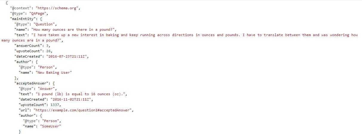 Schema q&a forum example