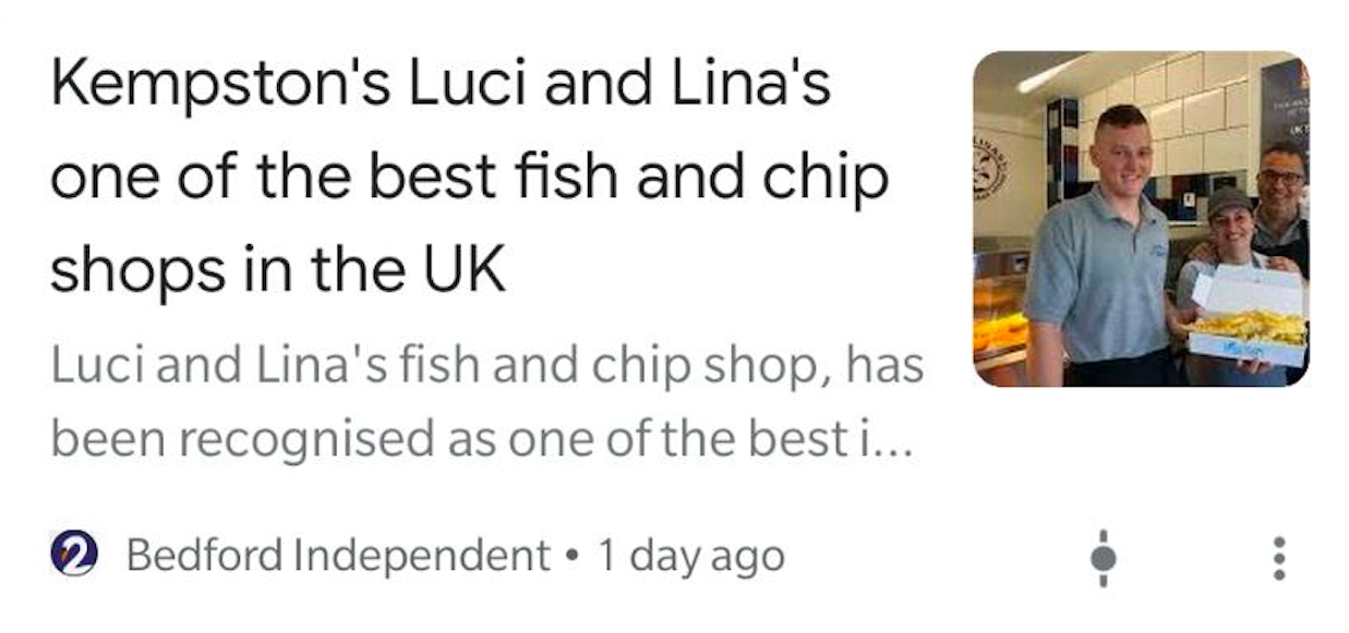 Luci and Lina's Fish and Chips