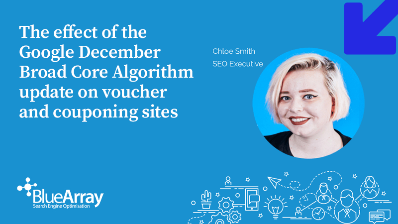 The effect of the Google December Broad Core Algorithm update on voucher and couponing sites