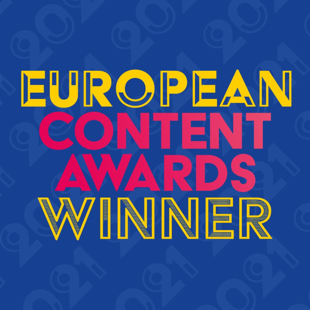 European Content Awards 2021 winner